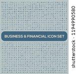 business vector icon set | Shutterstock .eps vector #1194990580