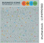 business vector icon set | Shutterstock .eps vector #1194990583