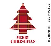 christmas tree with scottish... | Shutterstock .eps vector #1194992533
