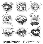 comic monochrome speech bubbles ... | Shutterstock .eps vector #1194994279