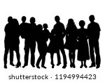 isolated  crowd of people with ... | Shutterstock .eps vector #1194994423