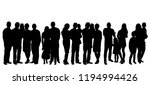 crowd of people with children... | Shutterstock .eps vector #1194994426