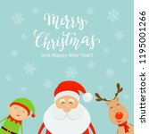 lettering merry christmas and... | Shutterstock .eps vector #1195001266