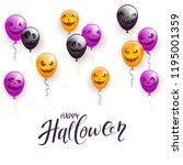 text happy halloween and... | Shutterstock .eps vector #1195001359