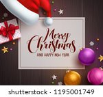 christmas vector background... | Shutterstock .eps vector #1195001749