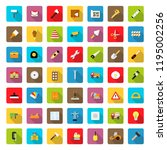 icon set of construction... | Shutterstock . vector #1195002256