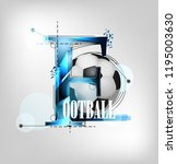 silhouette of a football....   Shutterstock .eps vector #1195003630