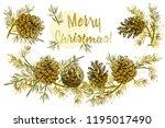 realistic botanical ink sketch... | Shutterstock .eps vector #1195017490