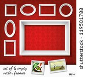 Set Of 6 Empty Vector Frames