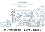 geography lesson   colorful... | Shutterstock .eps vector #1195018369