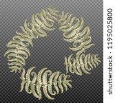 fern frond herbs  tropical... | Shutterstock .eps vector #1195025800