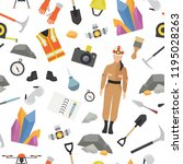 profession and occupation... | Shutterstock .eps vector #1195028263