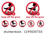 please stay off the lawn keep... | Shutterstock .eps vector #1195035733