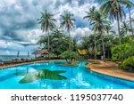 thailand. koh chang  01 07 2017 ... | Shutterstock . vector #1195037740