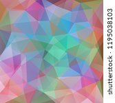 background of geometric shapes. ... | Shutterstock .eps vector #1195038103