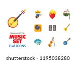 music icon set. trumpet player... | Shutterstock .eps vector #1195038280