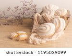 coockies with egg white cover.... | Shutterstock . vector #1195039099