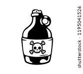cartoon poison bottle drawing.... | Shutterstock .eps vector #1195041526