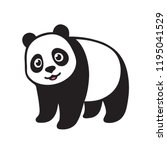 stylized giant panda full body... | Shutterstock .eps vector #1195041529