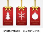 christmas tags on white... | Shutterstock .eps vector #1195042246