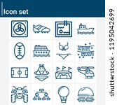 contains such icons as rugby ... | Shutterstock .eps vector #1195042699