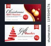 elegant gift voucher or... | Shutterstock .eps vector #1195049176