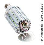 disassembled led bulb corn lamp ... | Shutterstock . vector #1195051699