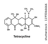 tetracycline chemical structure | Shutterstock .eps vector #1195066666