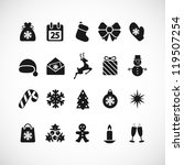 set of christmas icons. vector... | Shutterstock .eps vector #119507254