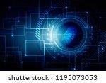 fingerprint scanning technology ... | Shutterstock . vector #1195073053