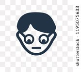 geek vector icon isolated on... | Shutterstock .eps vector #1195075633
