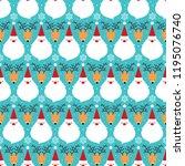 a vector christmas cartoonish... | Shutterstock .eps vector #1195076740