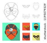 vector design of hero and mask... | Shutterstock .eps vector #1195079329