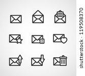 set of icons for messages.... | Shutterstock .eps vector #119508370