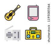 acoustic icon set. vector set...   Shutterstock .eps vector #1195085566