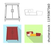 vector design of furniture and...   Shutterstock .eps vector #1195087360