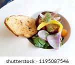 homemade terrine and garnish | Shutterstock . vector #1195087546