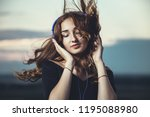 romantic portrait of a... | Shutterstock . vector #1195088980