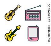 acoustic icon set. vector set...   Shutterstock .eps vector #1195095100