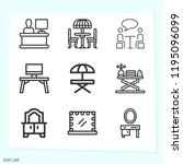 simple set of 9 icons related... | Shutterstock . vector #1195096099