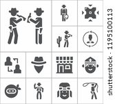 simple collection of people... | Shutterstock .eps vector #1195100113