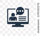 testimonial vector icon... | Shutterstock .eps vector #1195102276