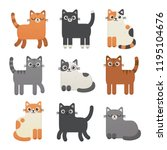 Cute Cats Vector Set. Kittens...