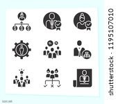 simple set of 9 icons related... | Shutterstock . vector #1195107010