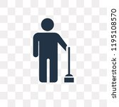 brooming vector icon isolated... | Shutterstock .eps vector #1195108570