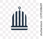 bird cage vector icon isolated... | Shutterstock .eps vector #1195108639