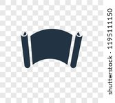 manuscript vector icon isolated ...   Shutterstock .eps vector #1195111150