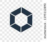 diamond vector icon isolated on ... | Shutterstock .eps vector #1195112890