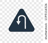 u turn vector icon isolated on... | Shutterstock .eps vector #1195116526