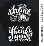 "hand drawn lettering ""thank you""... 